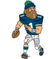 lumberjack sports logo mascot football vector image vector image