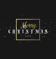 merry christmas golden phrase in frame with vector image vector image