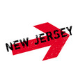 new jersey rubber stamp vector image