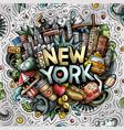 new york hand drawn cartoon doodle vector image