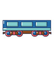 passenger carriage icon cartoon style vector image vector image