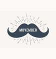 poster and banner with text movember and mustache vector image