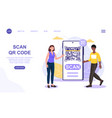 qr code scanning concept using smartphone payment vector image