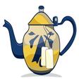 Retro teapot vector image