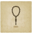 rosary old background vector image vector image