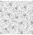 seamless pattern made from pink roses hand drawn vector image vector image