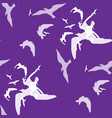 seamless pattern of bird on the violet vector image
