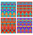 set of abstract seamless pattern for girls vector image vector image