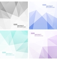 Set of Light Colorful Geometric Backgrounds vector image
