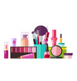 set of various cosmetic stuff vector image vector image