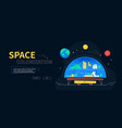 space colonization - colorful flat design style vector image