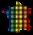 spectrum pixel lgbt france map vector image vector image
