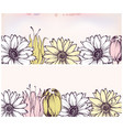 summer flowers banner set daisy and tulips vector image