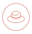 Summer hat line icon vector image vector image