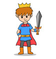 the king boy character style vector image