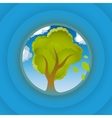 Tree look in circle vector image vector image