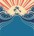 Tropical poster background vector | Price: 1 Credit (USD $1)