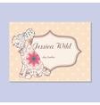 Vintage business card for dog barber vector image vector image