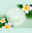world environment day concept background vector image vector image