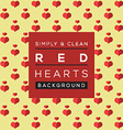 Simple And Clean Red Hearts Background vector image
