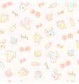 Baby girl pattern vector image
