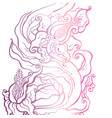 abstract flower hand drawn vector image