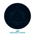 Abstract geometric shape low poly HUD vector image vector image