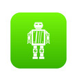 abstract robot icon digital green vector image