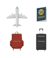 Airplane Passport Valises vector image vector image