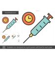 Anesthesia line icon vector image vector image