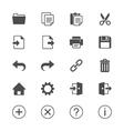 Application toolbar flat icons vector image vector image