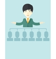Asian man giving a buisness speech vector image vector image