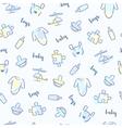 Baby boy pattern vector image