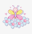 beautiful buttefly cartoon vector image vector image