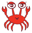 beauty crab on white background vector image vector image