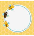 Bees frame vector image