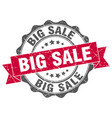 big sale stamp sign seal vector image vector image