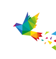 Bird abstract triangle design vector image