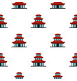 buddhist temple pattern flat vector image vector image