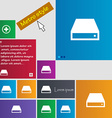 CD-ROM icon sign Metro style buttons Modern vector image vector image