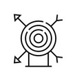 center aim line icon concept sign outline vector image