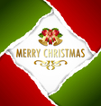 christmas ripped paper card vector image
