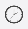 clock icon flat design on white background vector image vector image