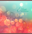 colorful bokeh background with mandala decoration vector image vector image