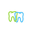 connect dental logo icon design vector image