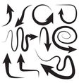 Different arrows directions positions vector image