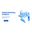 dm analytics 3d template 2 vector image vector image