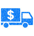 dollar delivery grunge icon vector image vector image