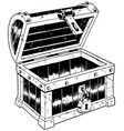 empty chest line art vector image