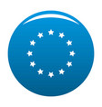 european union icon blue vector image